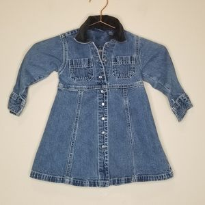 Gap blue jeans pearl snap up dress size xxs